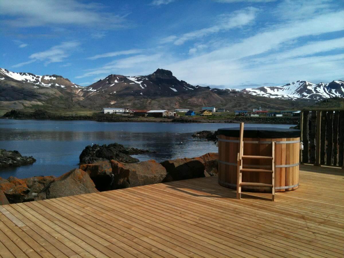 Spa van Blabjorg Guesthous in Borgafjordur Eystri IJsland