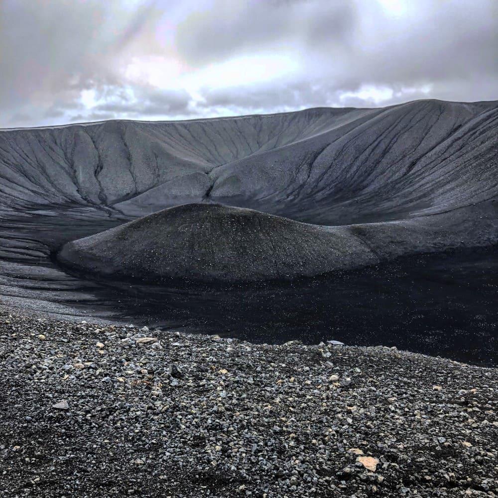 Hverfjall krater IJsland