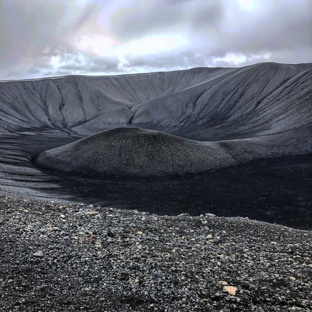 Hverfjall krater IJsland - myvatn regio