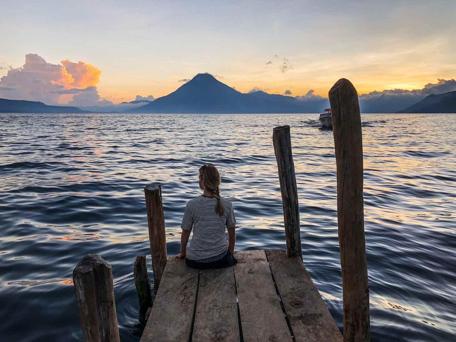 Lake Atitlan Guatemala - zonsondergang