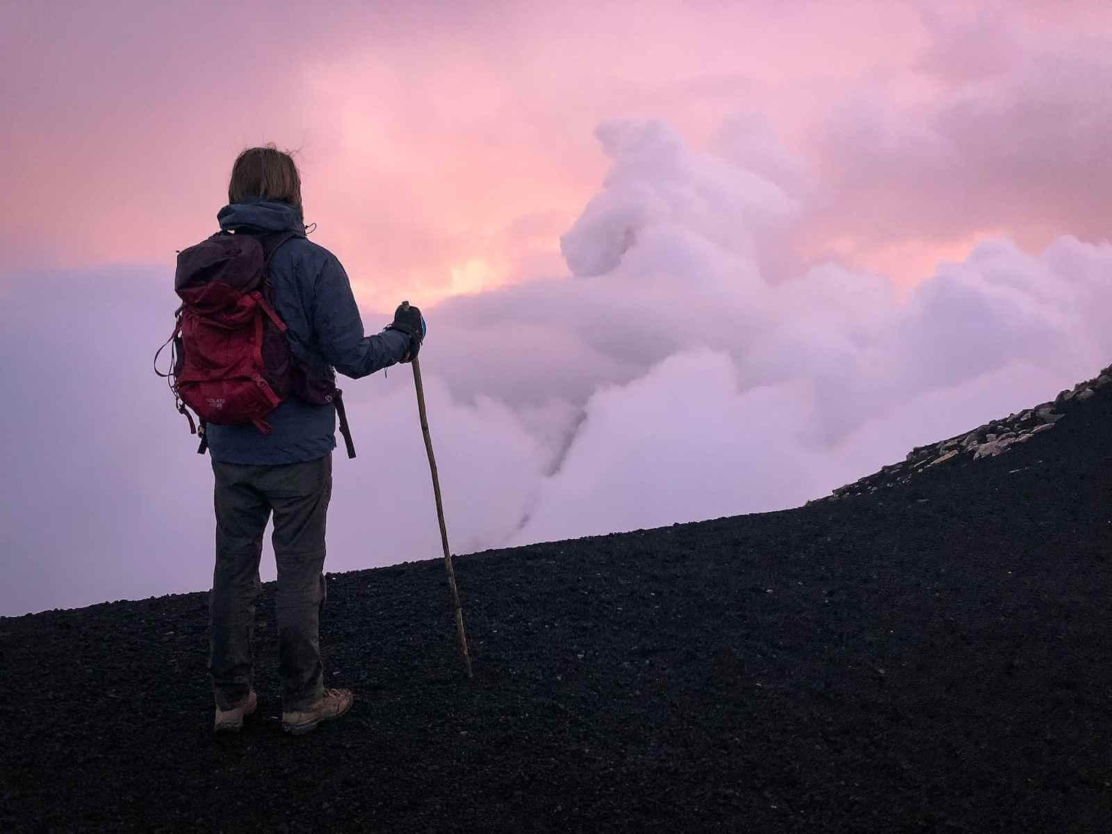 Acatenango vulkaan beklimmen - de top