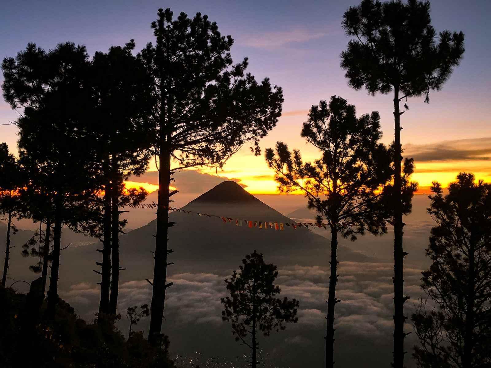 Acatenango Vulkaan beklimmen - zonsopgang