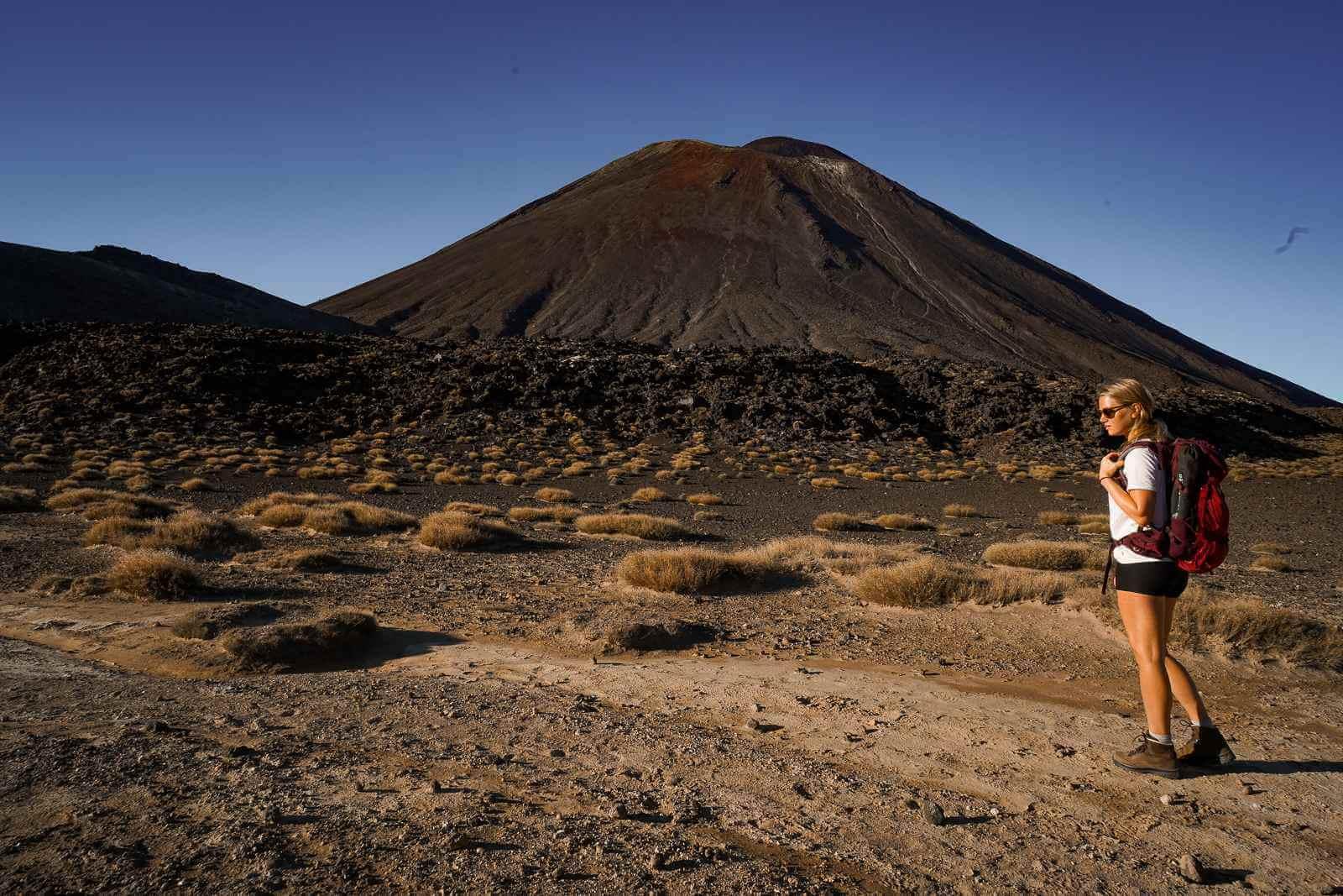 Tongariro Crossing - Central Crater passeren