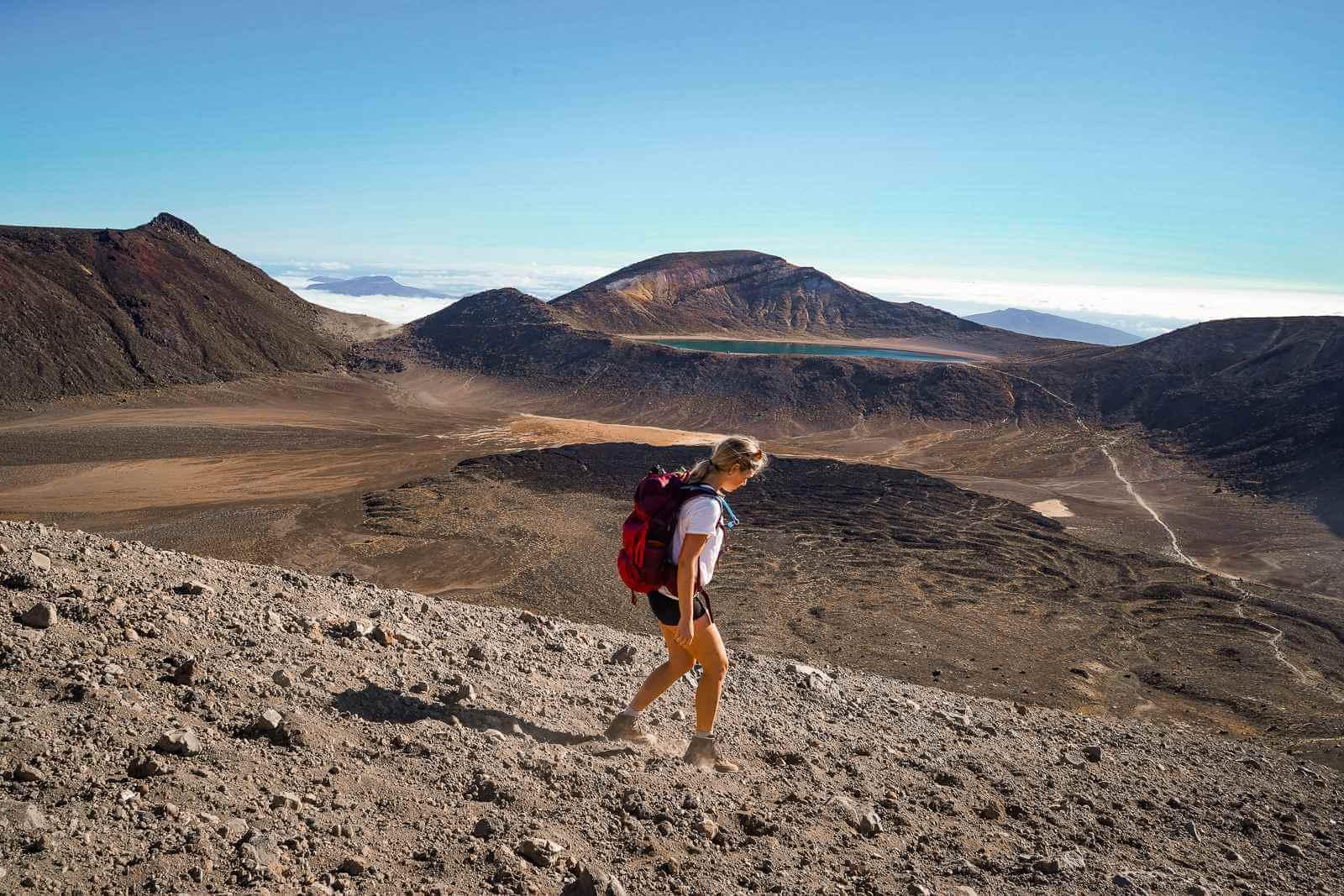 Tongariro Crossing - Red Crater afdaling