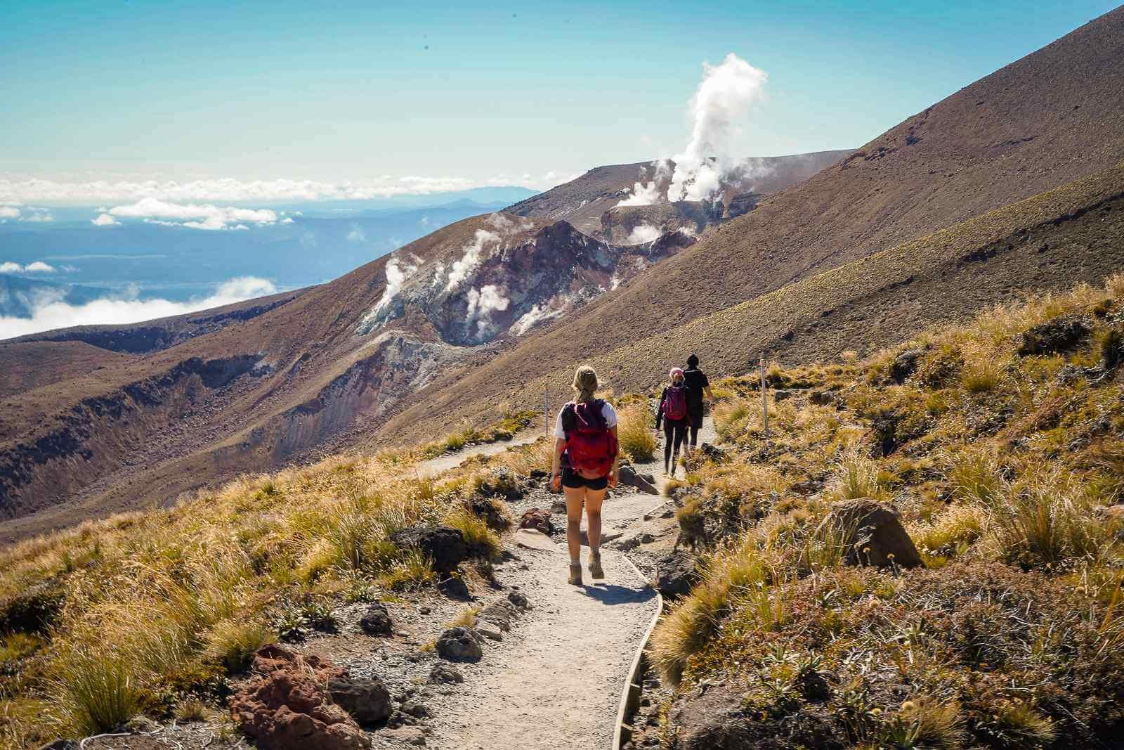 Tongariro Crossing - de afdaling