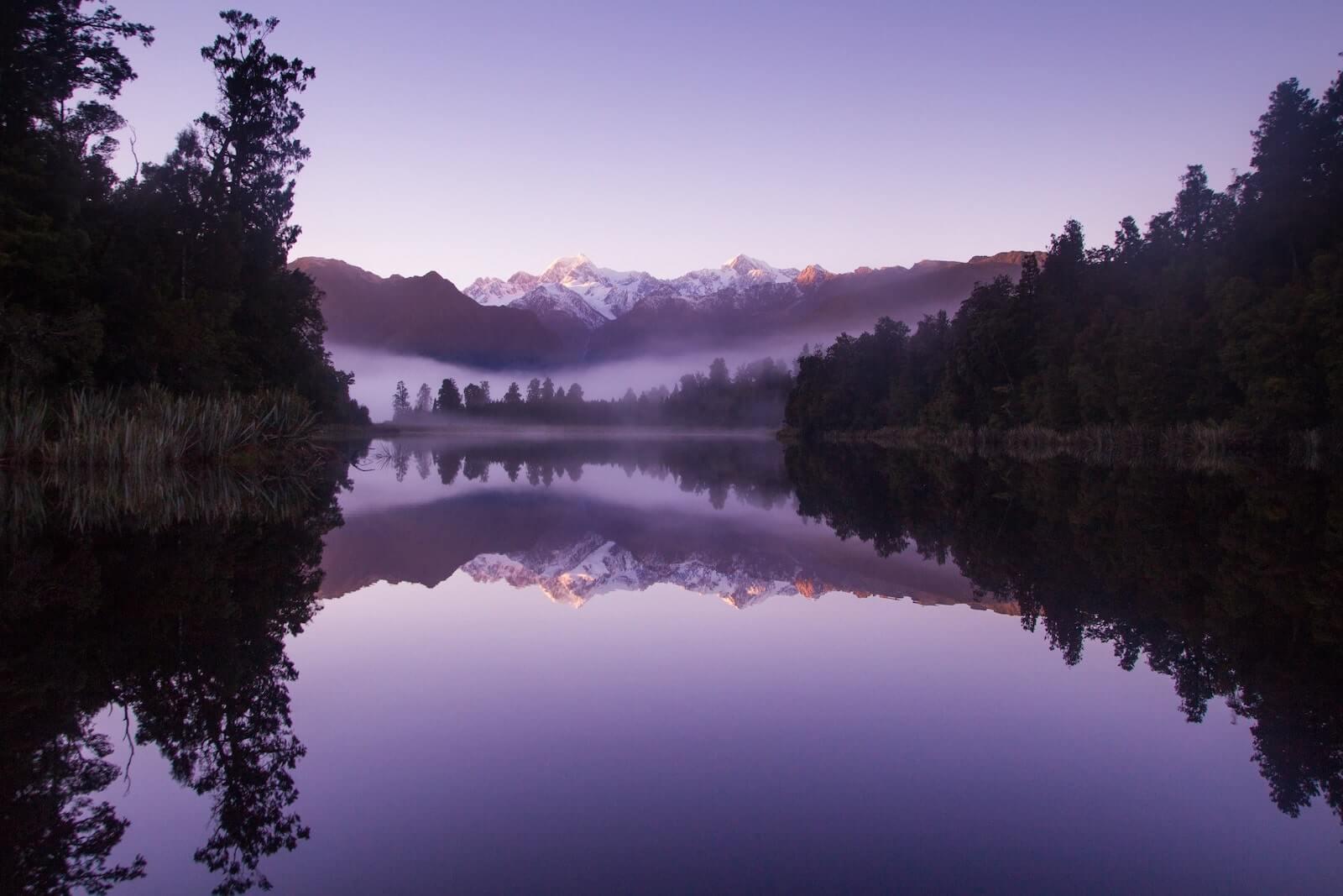 Lake Matheson Zuidereiland Nieuw Zeeland