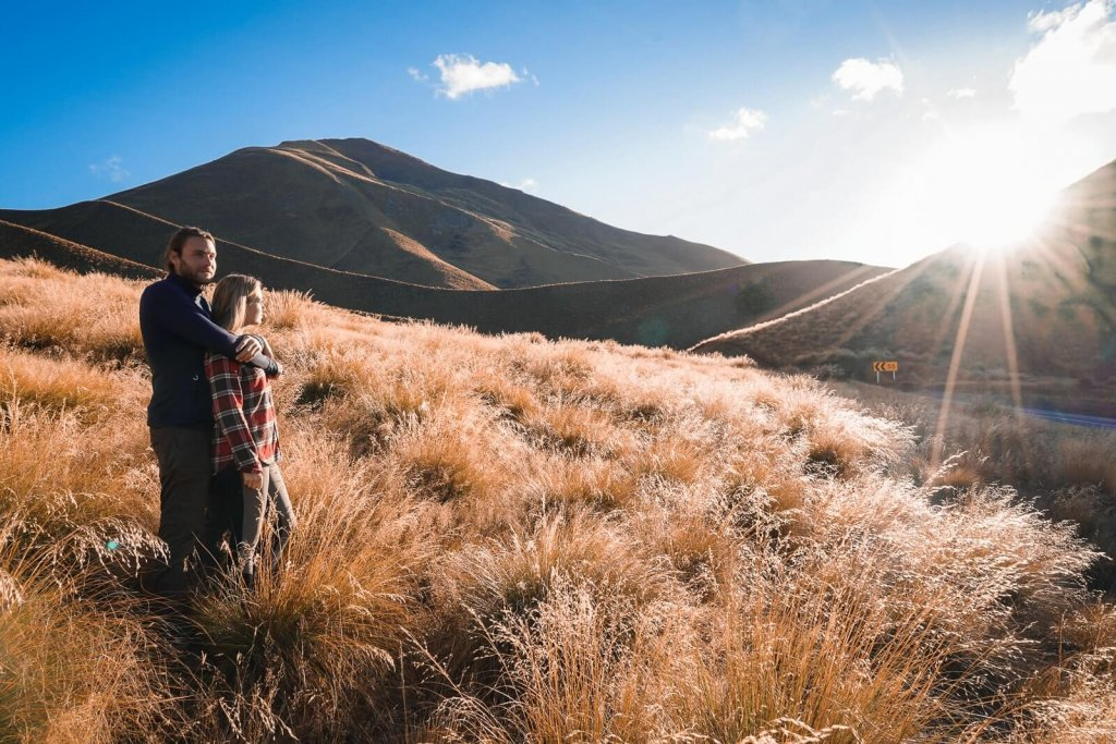 Lindis Pass Zuidereiland Nieuw Zeeland