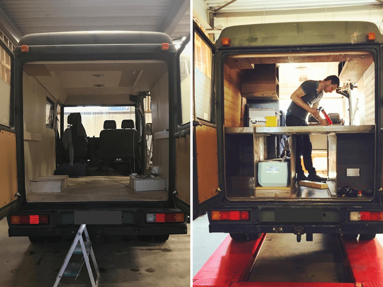 Our Orange Happiness heeft in ongeveer een jaar hun eigen camper omgebouwd en reizen daar nu door Zuid Amerika mee.