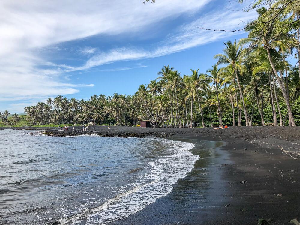 Punaluu Beach Big Island - Prachtig Zwart zandstrand