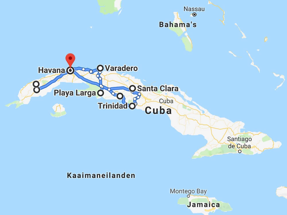 Rondreis Cuba - 3 weken reisroute
