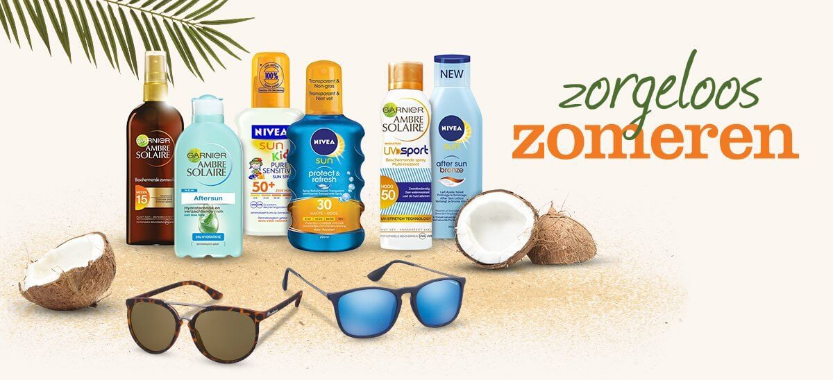 zonnebrand inpakken voor vakantie