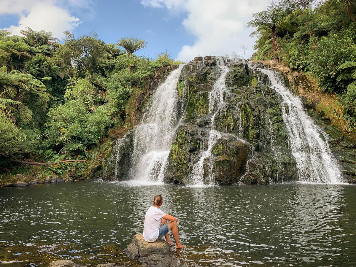 Owharoa Falls Noordereiland Nieuw-Zeeland