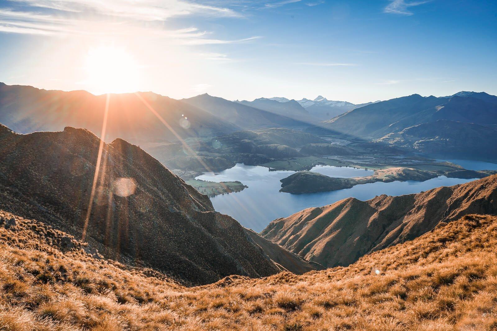 Mooiste wandelingen Zuidereiland Nieuw-Zeeland - Roy's Peak Track