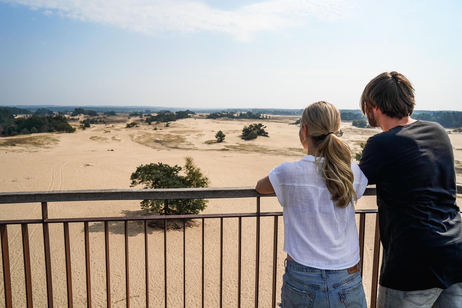 Uitzicht over Kootwijkerzand vanaf de uitkijktoren