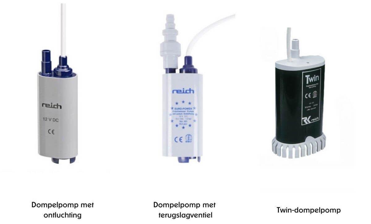 Waterpomp camper - verschillende type dompelpompen uitgelegd - by NOMADS