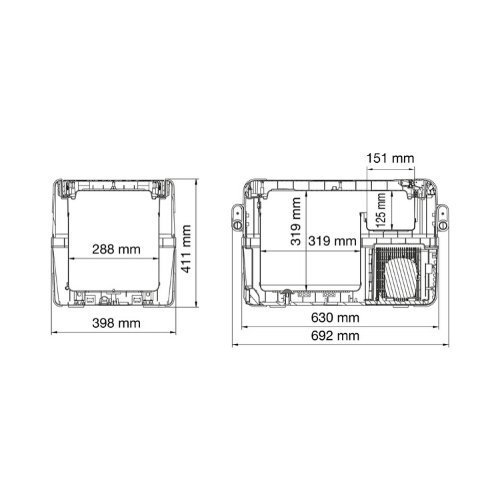 Dometic Compressor Koelbox formaten