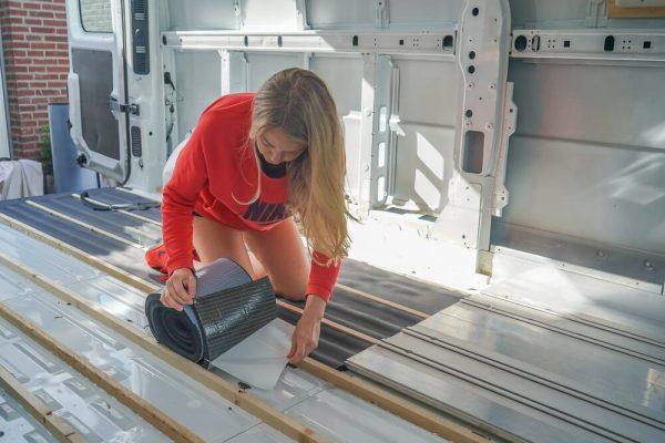 Vloer isoleren met Armaflex 19mm