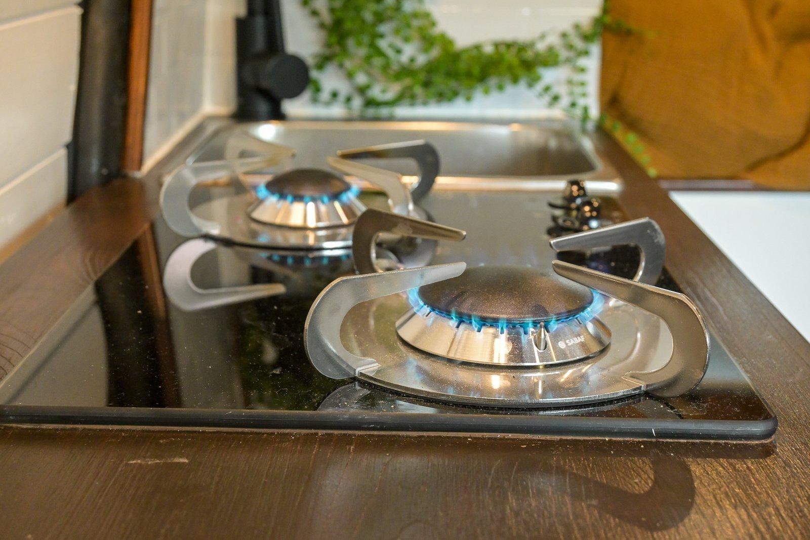 Koken op camper gas
