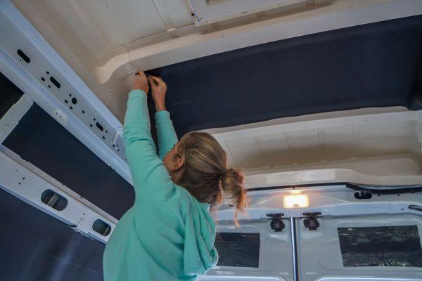 Camper plafond isoleren met armaflex 19mm