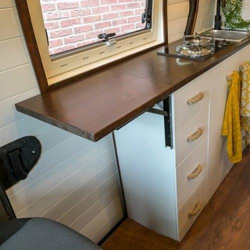 Verlenging keukenblad camper