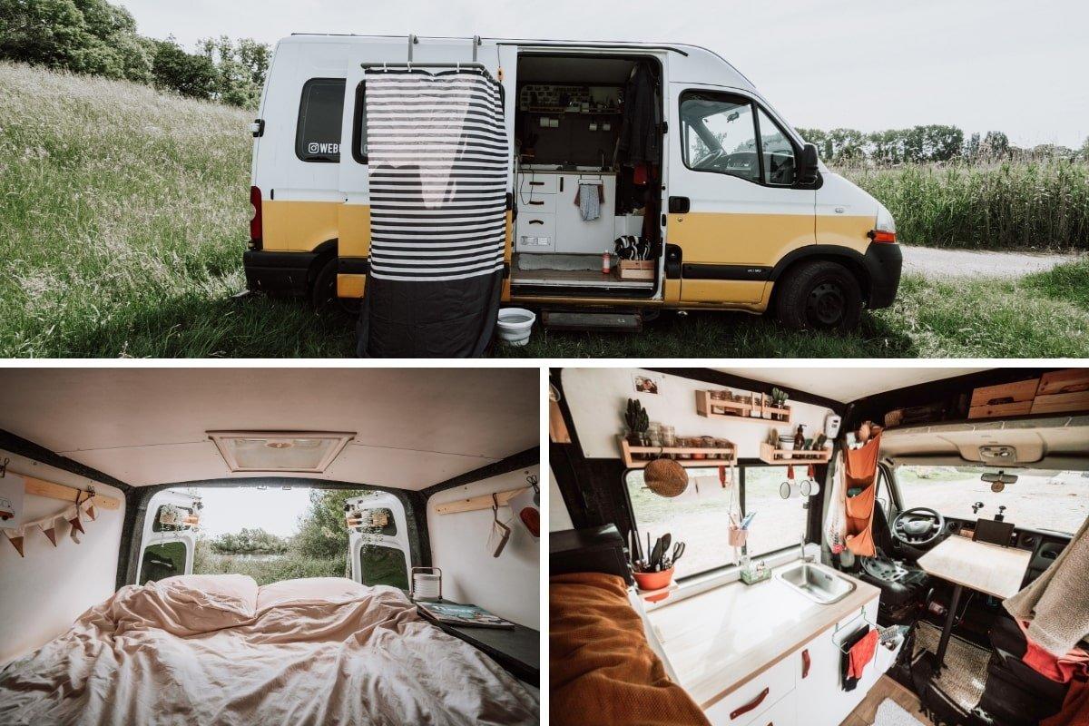 Renault Master zelfbouw camper l2h2