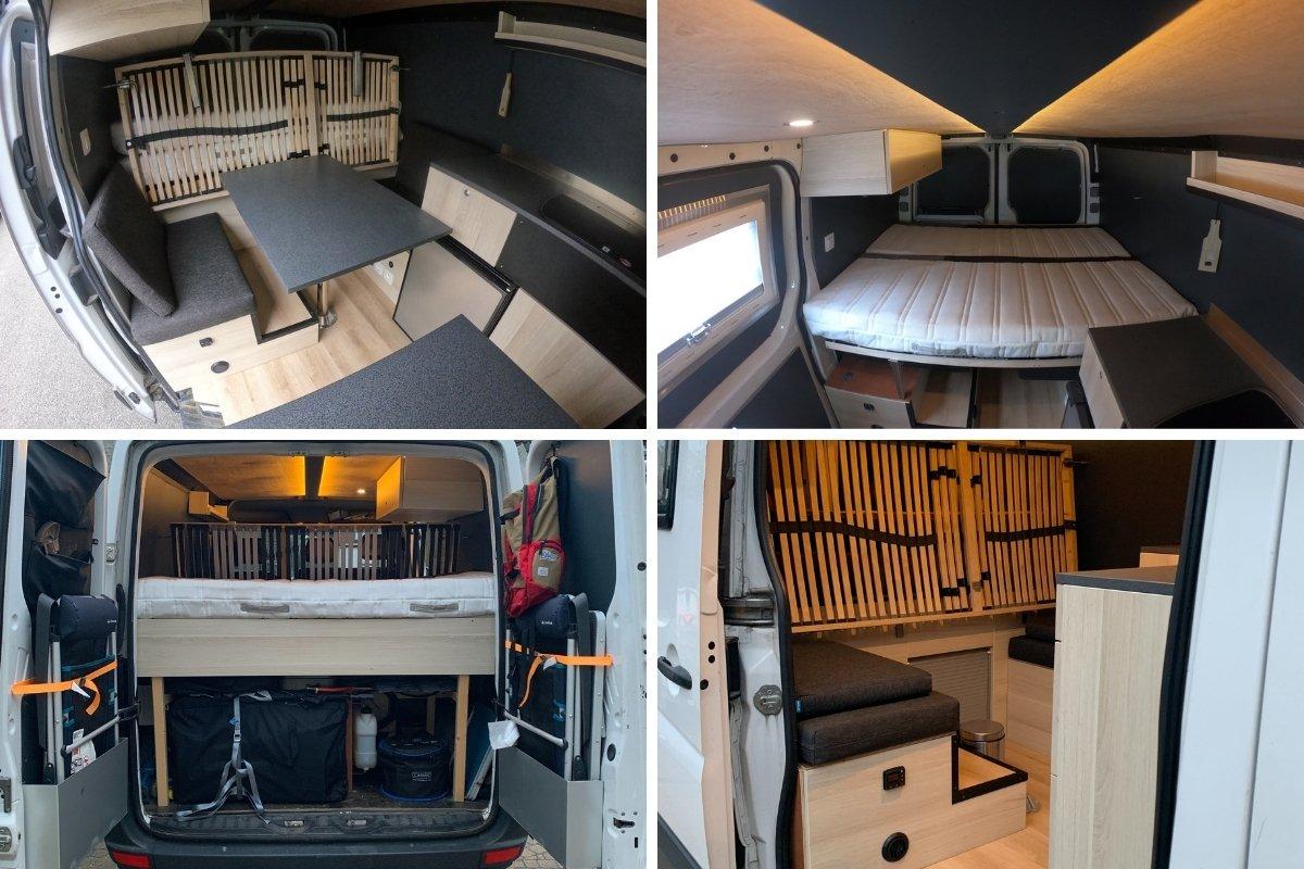 VW Crafter L1H1 camper interieur