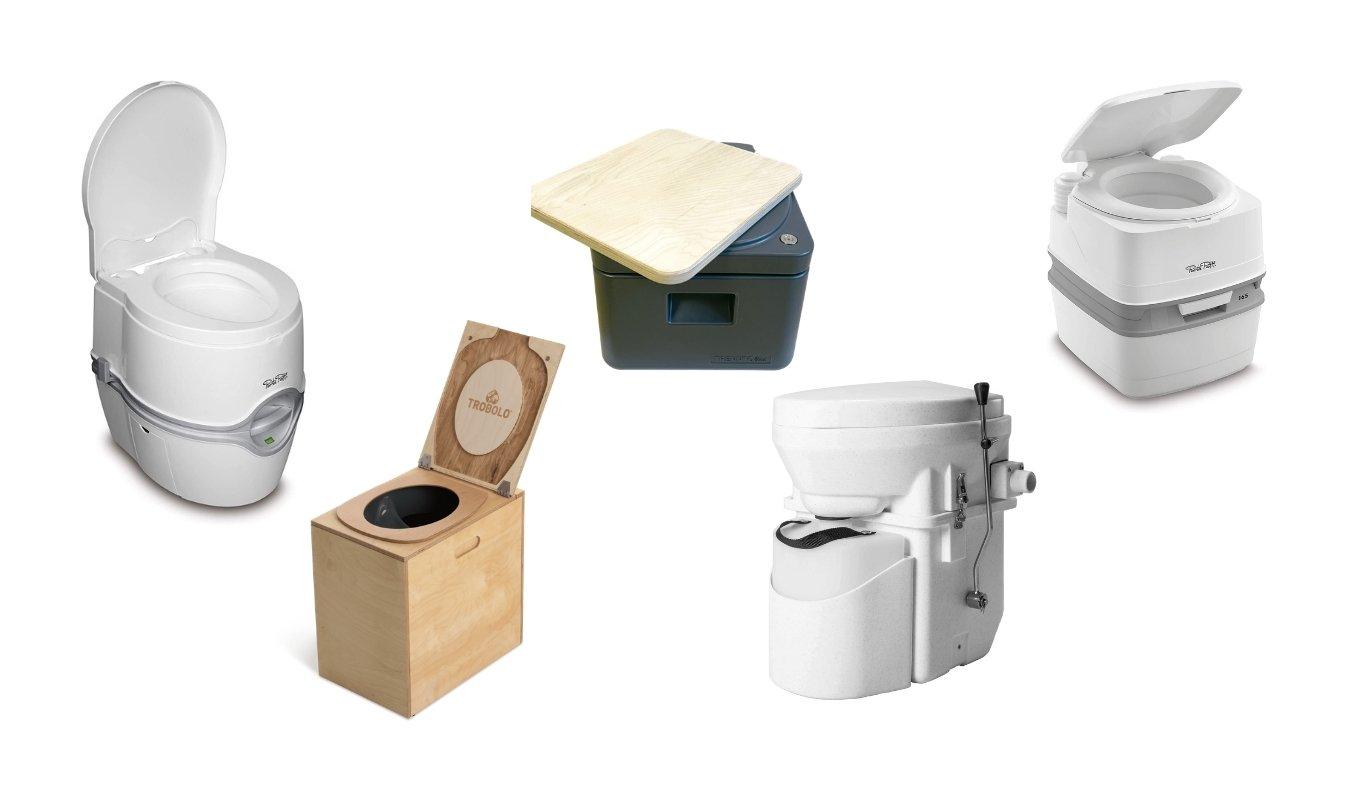 Camper toilet: chemisch of composttoilet