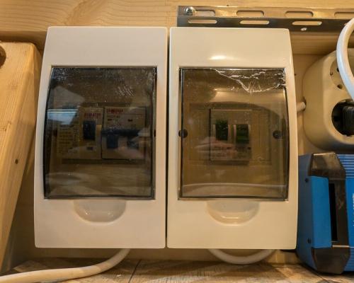 Camper elektra installatiekast met aardlek
